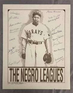 Negro Leagues Multi Signed Print, Murray Tinkelman