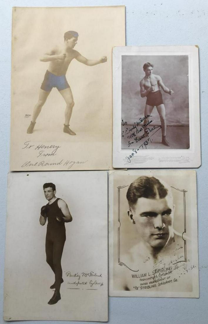 Lot of Four Boxing Photos.