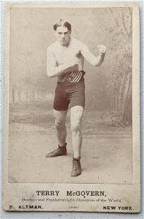 Terry McGovern Cabinet Card.