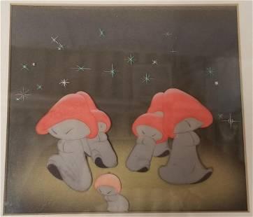 1940 Fantasia Mushroom Dancers Production Cel