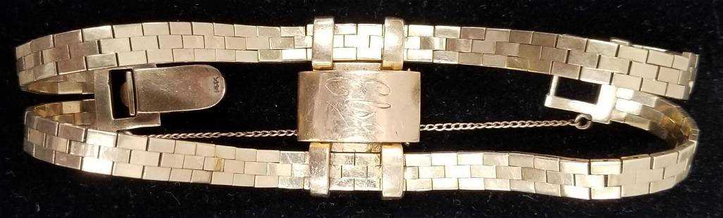 "14K Yellow Gold Ladies ""Alpha"" Swiss Watch."