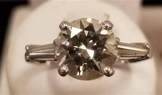 Platinum Ladies Diamond Engagement Ring.
