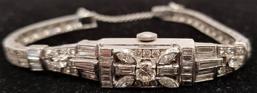 Ladies Platinum Diamond Watch,