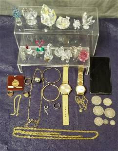 Mixed Estate Jewelry and Coin Lot.