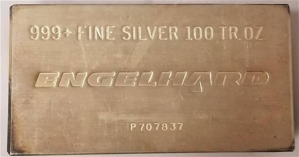 100 Ounce Silver Bar.