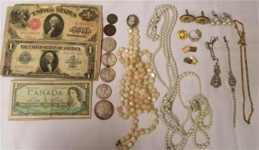 Mixed Jewelry & Coin Lot.
