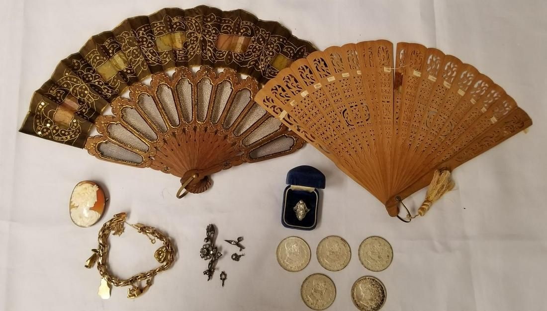 Mixed Jewelry and Coin Lot.