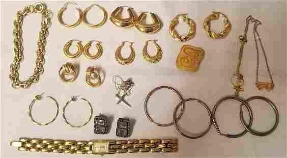 Gold & Silver Estate Jewelry Lot.