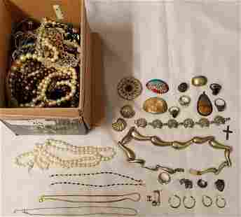 Estate Jewelry Lot Gold and Silver.