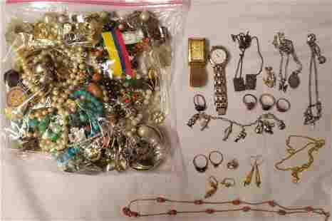 Gold and Silver Estate Jewelry Lot.