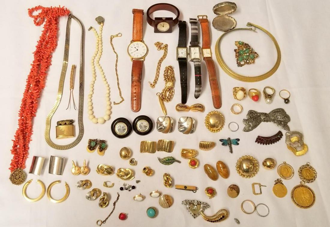 Gold and Diamond Estate Jewelry Lot.