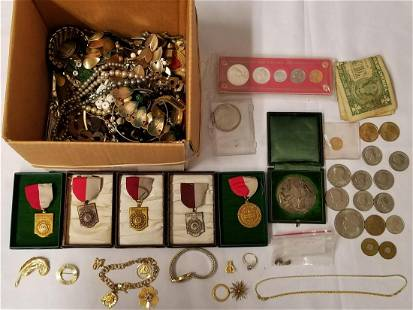 Estate Jewelry & Coin Lot