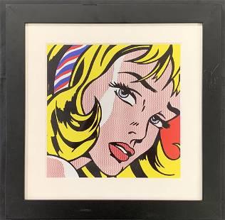 """Roy Lichtenstein, """"Girl With Hair Ribbon"""""""