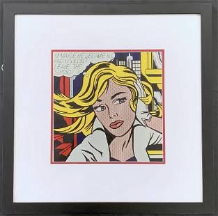 """Roy Lichtenstein, """"M-Maybe"""", Offset Litho"""
