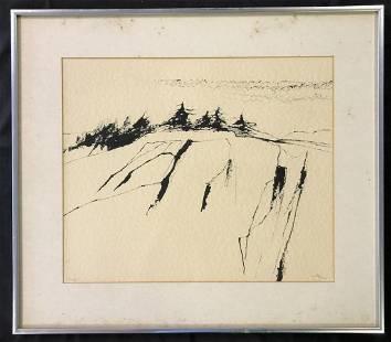 Reuben Tam, Abstract Ink Drawing