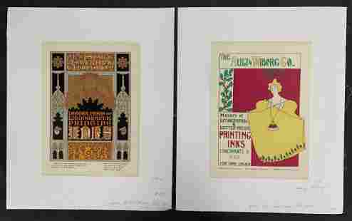 (2) Original Ault & Wiborg Lithographic Posters