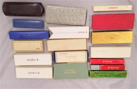 Lot of Fountain Pens Boxed and Empty Boxes.