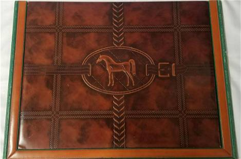 Gucci Leather Horse Blotter.