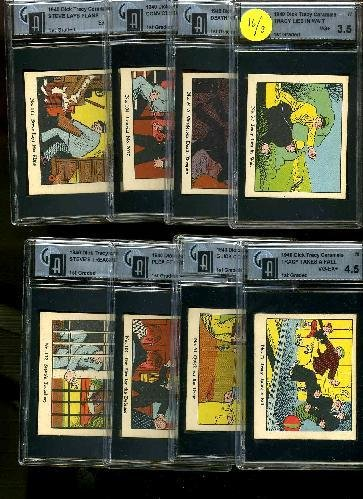 16: DICK TRACY. LOT OF 8 GRADED CARDS.