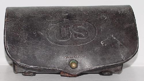 1: CIVIL WAR LEATHER CARTRIDGE BOX