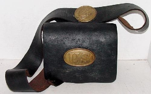 9: COMPLETE LEATHER CARTRIDGE BOX.