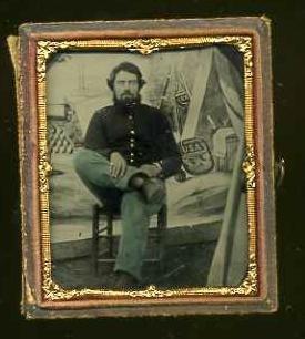 14: CIVIL WAR TINTYPE. E. LONG PHOTOGRAPHER.