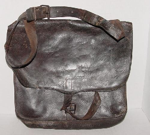 56: ID'D LEATHER CONFEDERATE HAVERSACK