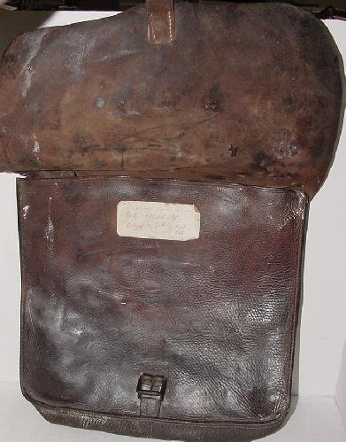 56: ID'D LEATHER CONFEDERATE HAVERSACK - 2