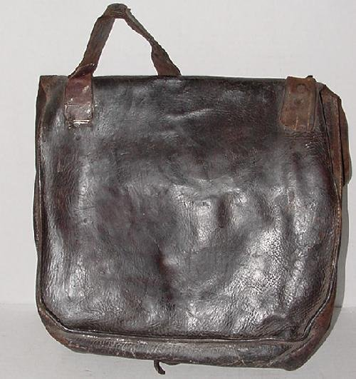 56: ID'D LEATHER CONFEDERATE HAVERSACK - 4