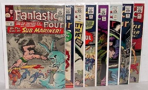 159: FANTASTIC FOUR COMICS 33-40 BIG APPLE COPIES