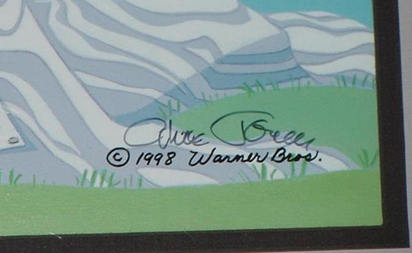 82: SIGNED CHUCK JONES ROBIN HOOD DAFFY DUCK CEL - 3