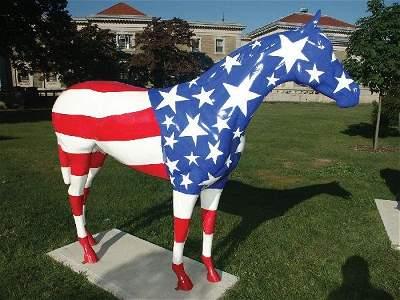 1001: Patriotic Horse