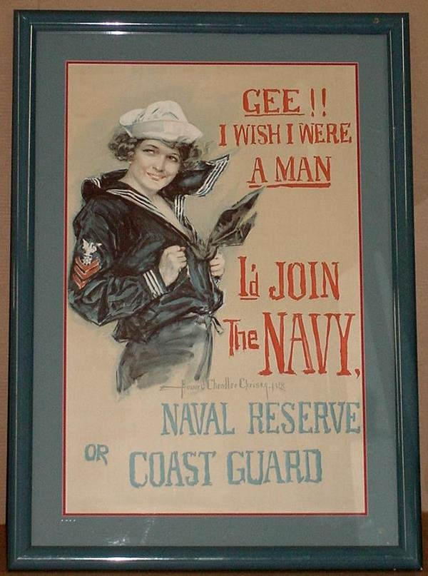 2: ORIGINAL WW1 POSTER GEE! I WISH I WERE A MAN