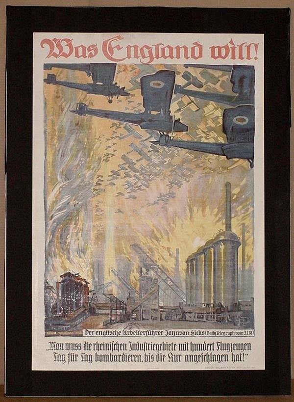4: ORIGINAL GERMAN WW1 POSTER WAS ENGLAND WILL