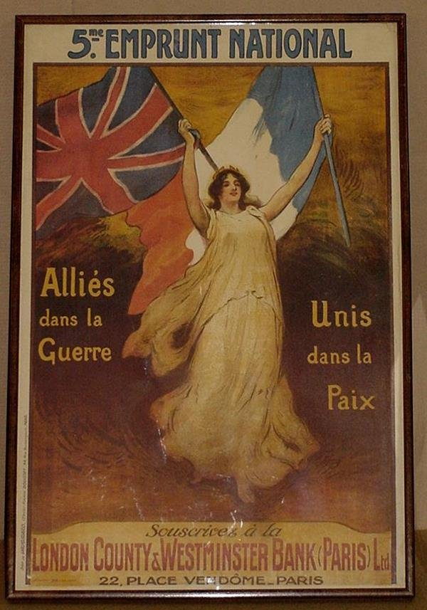 8: ORIG FRENCH WW1 POSTER EMPRUNT NATIONAL