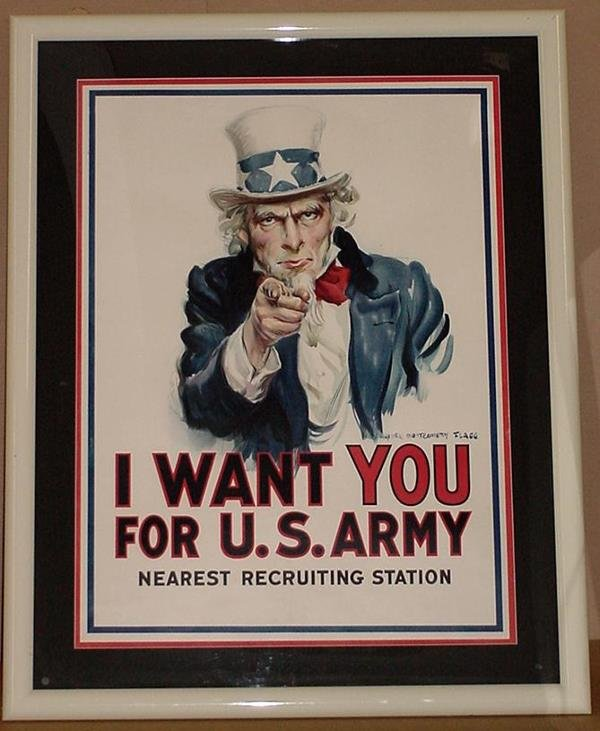 11: ORIG WW1 POSTER I WANT YOU FOR U.S. ARMY