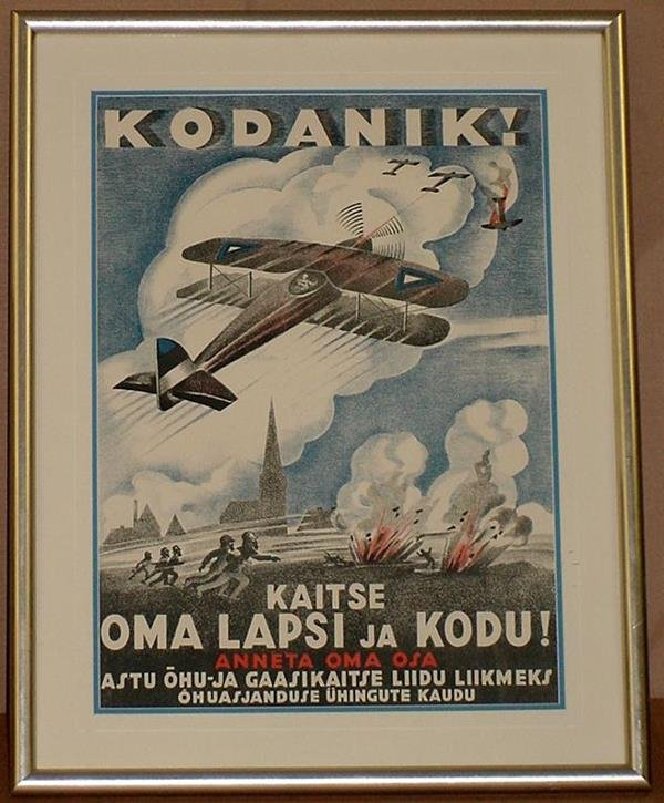 12: ORIGINAL ESTONIAN WW1 POSTER KODANIK