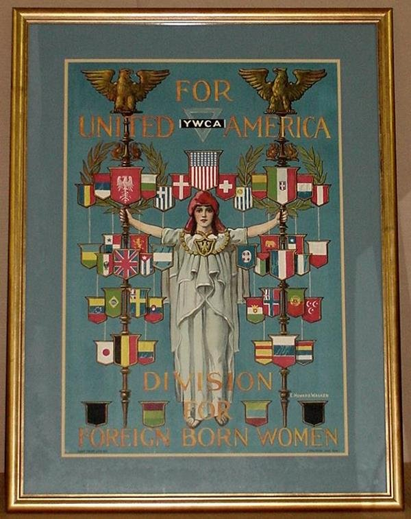 14: ORIG WW1 POSTER FOR UNITED AMERICA YWCA