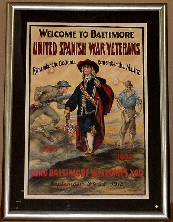 19: ORIG WW1 POSTER WELCOME TO BALTIMORE