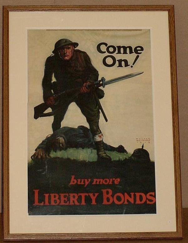 20: ORIG WW1 POSTER COME ON BUY MORE