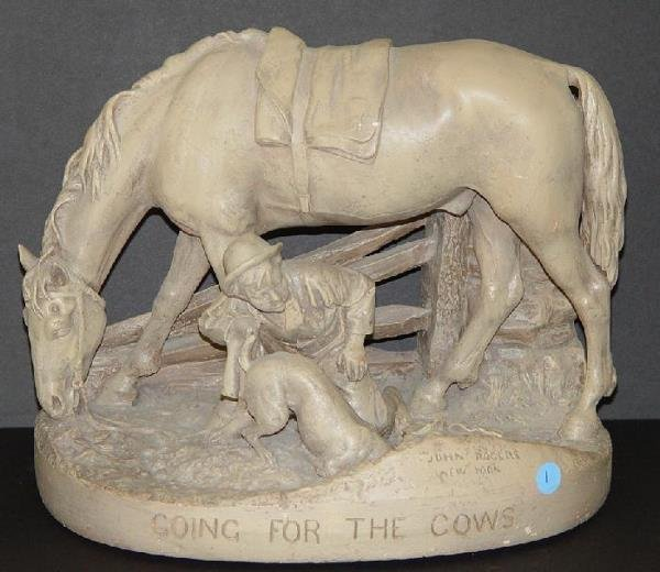 1001: JOHN ROGERS STATUE - GOING FOR THE COWS