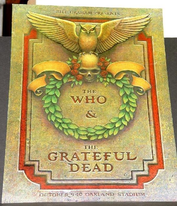 1013: BILL GRAHAM POSTER - THE WHO & GRATEFUL DEAD