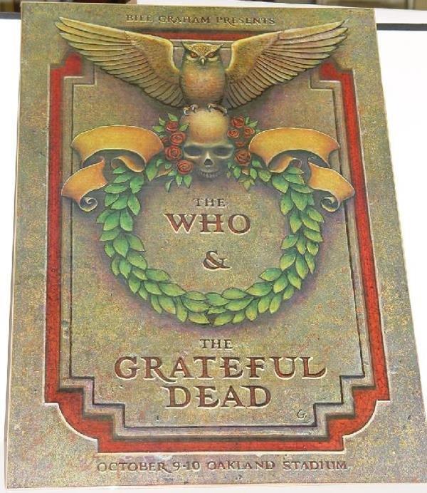 1014: BILL GRAHAM POSTER - THE WHO & GRATEFUL DEAD