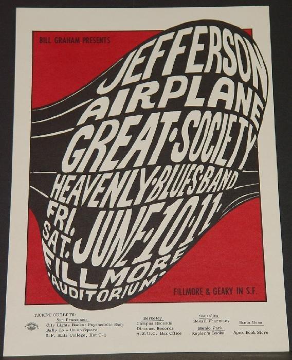 1015: BILL GRAHAM POSTER - JEFFERSON AIRPLANE