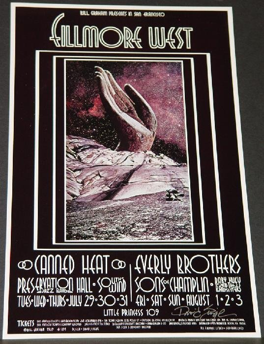 1021: BILL GRAHAM POSTER - CANNED HEAT