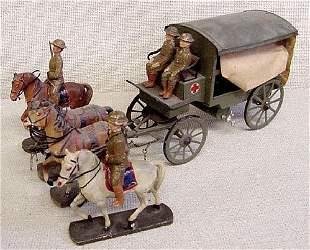 Elastolin Horse Drawn Ambulance