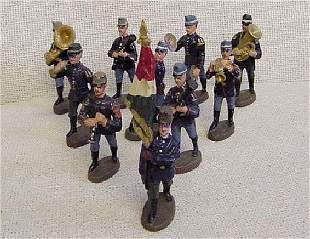 10 Elastolin Foreign Band Toy Soldiers