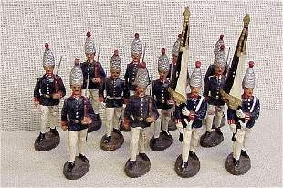 12 Elastolin Foreign Toy Soldiers