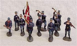11 Elastolin Foreign Toy Soldiers