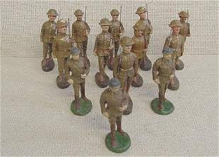 Lot of 13 Elastolin Soldier Troops